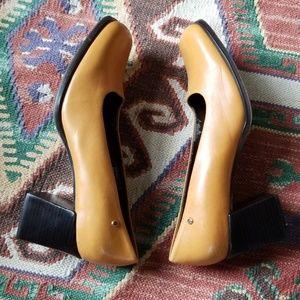 Vintage Etienne Aigner Square Toe Block Heel
